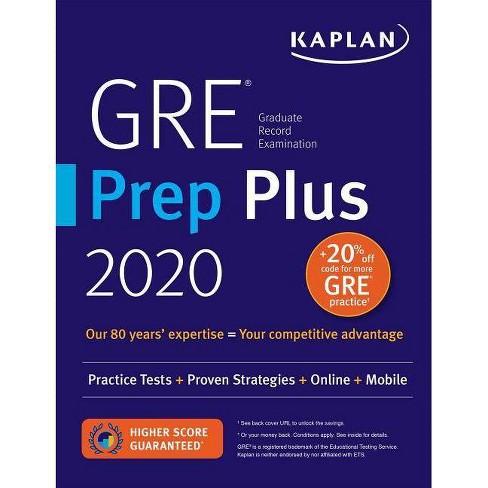 Best Gre Prep Book 2020.Gre Prep Plus 2020 Kaplan Test Prep Paperback