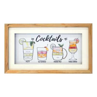 Cocktails Framed Art 8 x 14 - Threshold™
