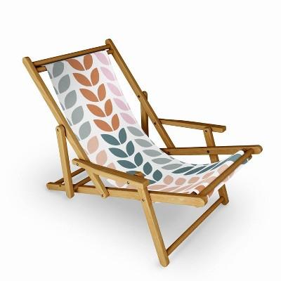 June Journal Autumn Leaves Sling Chair - Deny Designs