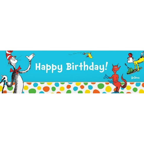 Dr. Seuss Favorites Party Banner - image 1 of 1