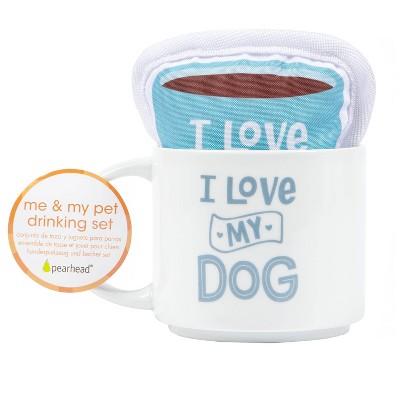 Pearhead Me and My Pet Mug and Toy Gift Set - I Love My Dog