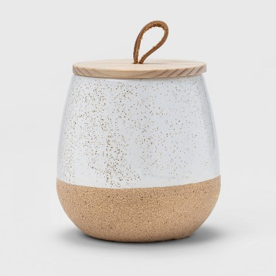 10oz Ceramic Candle with Wood Lid - Threshold™