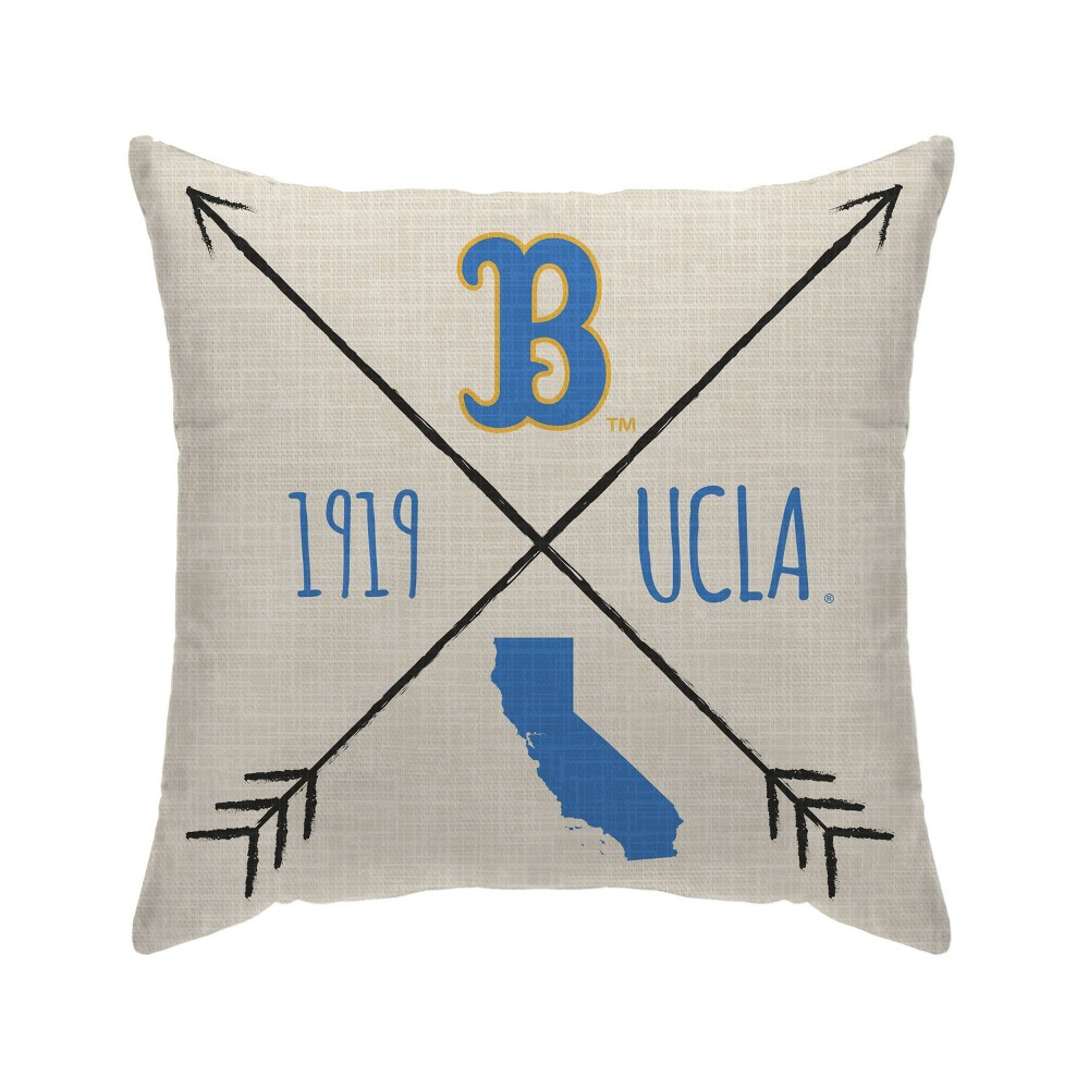 Ncaa Ucla Bruins Cross Arrow Decorative Throw Pillow