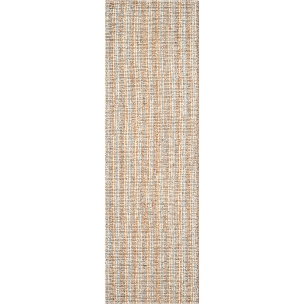 2'6X6' Stripe Woven Runner Gray/Natural - Safavieh