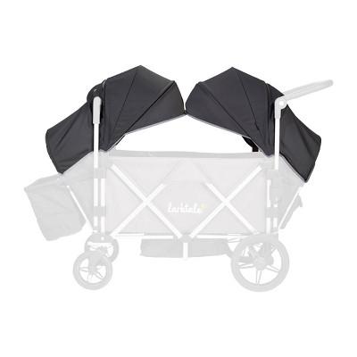 Larktale Caravan Stroller Wagon Canopy Set of 2 - Byron Black