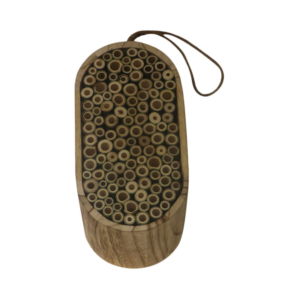 """Image of """"9"""""""" Wood Insect House - Brown - Threshold"""""""