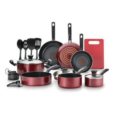 T-Fal 17pc Simply Cook Prep and Cook Set Red