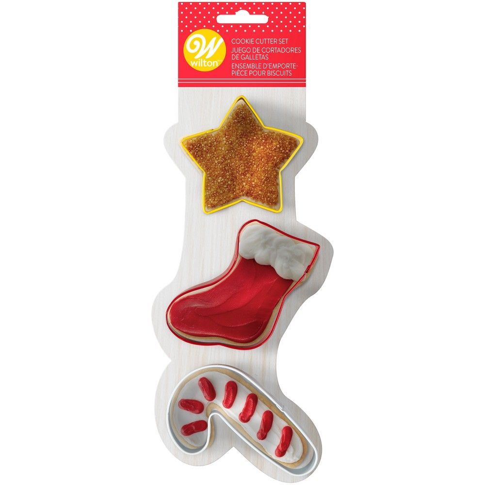 3pk Holiday Cookie Cutters - Wilton, Multi-Colored