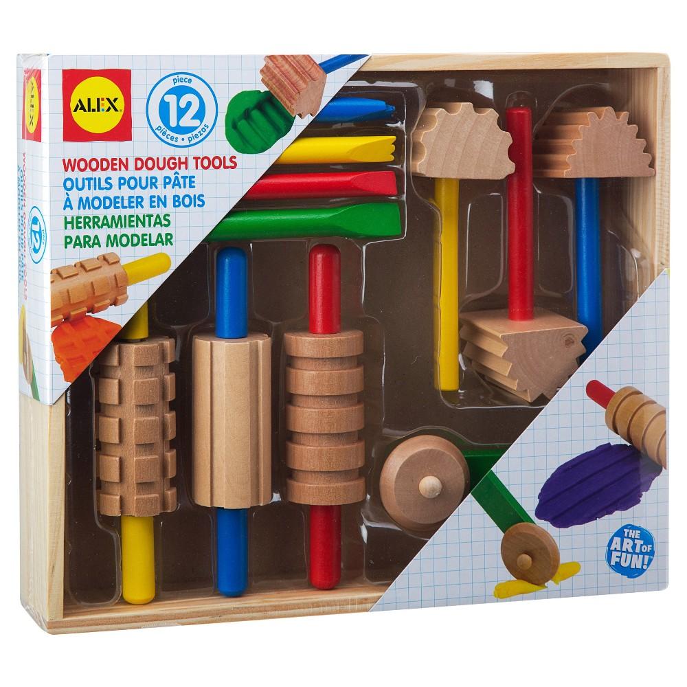 Image of ALEX Toys Artist Studio Wooden Dough Tools Set 12 Piece