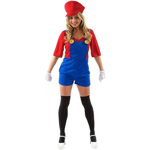 Orion Costumes Female Super Plumber/ Mario Adult Costume - image 1 of 1