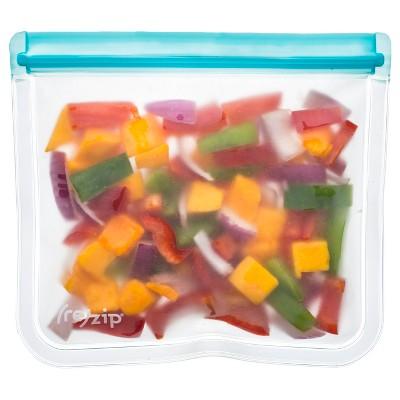 (re)zip Leak-Proof Lay Flat Aqua Lunch Bag - 2pk