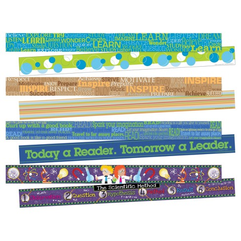 Barker Creek® Bulletin Board Double-Sided Border 4ct - Inspirational - image 1 of 6