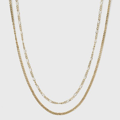 SUGARFIX by BaubleBar Layered Link Chain Necklace - Gold