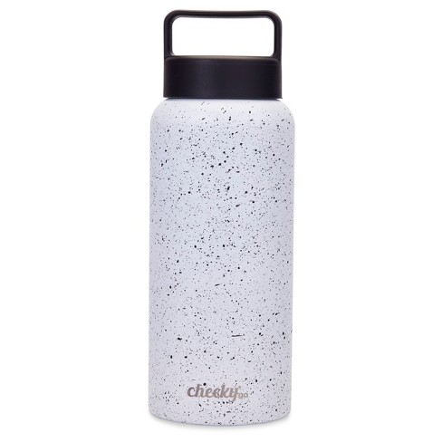 8fec05df93 Cheeky® 32oz Insulated Stainless Steel Water Bottle - White with Black  Speckles