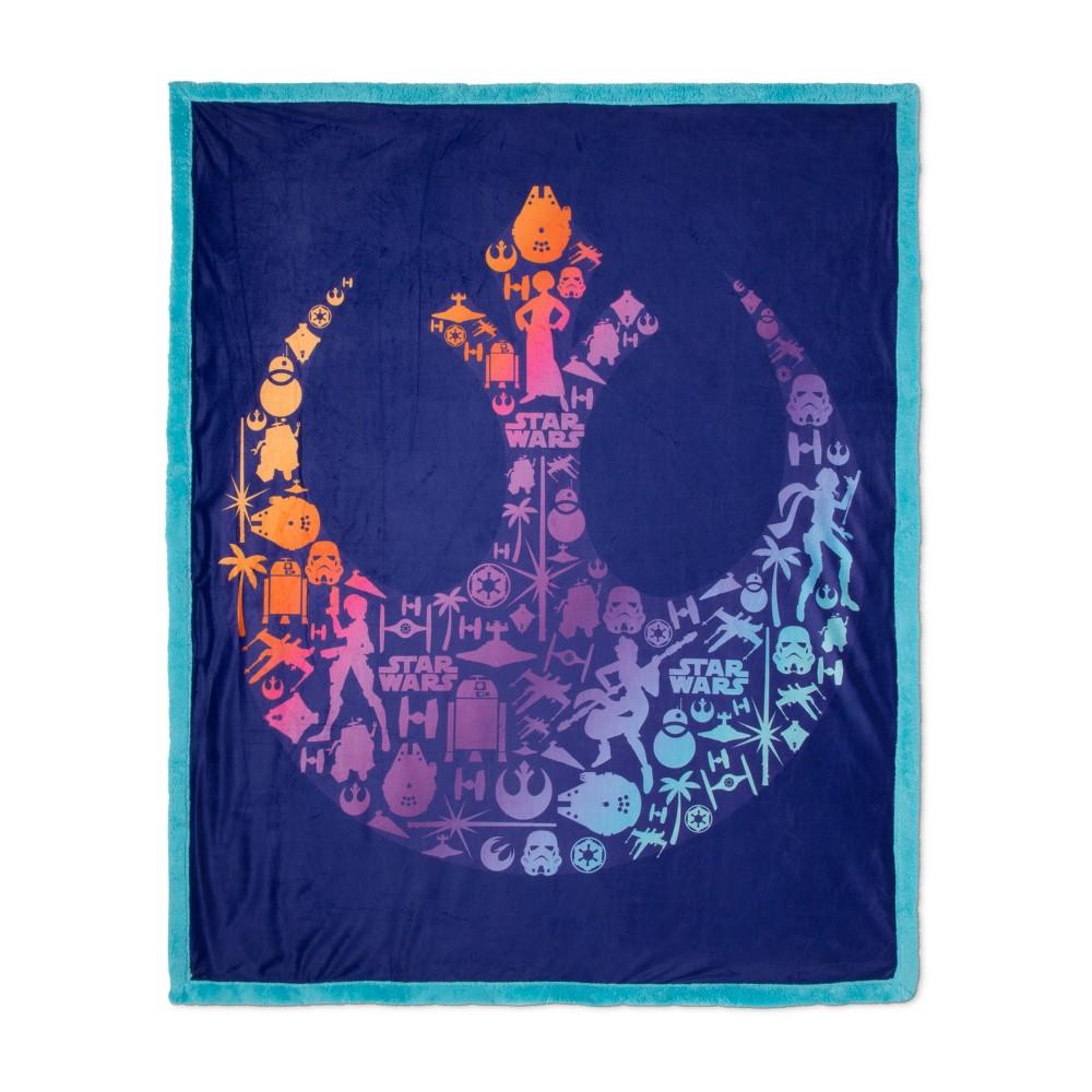Star Wars Purple Throw Blanket (46