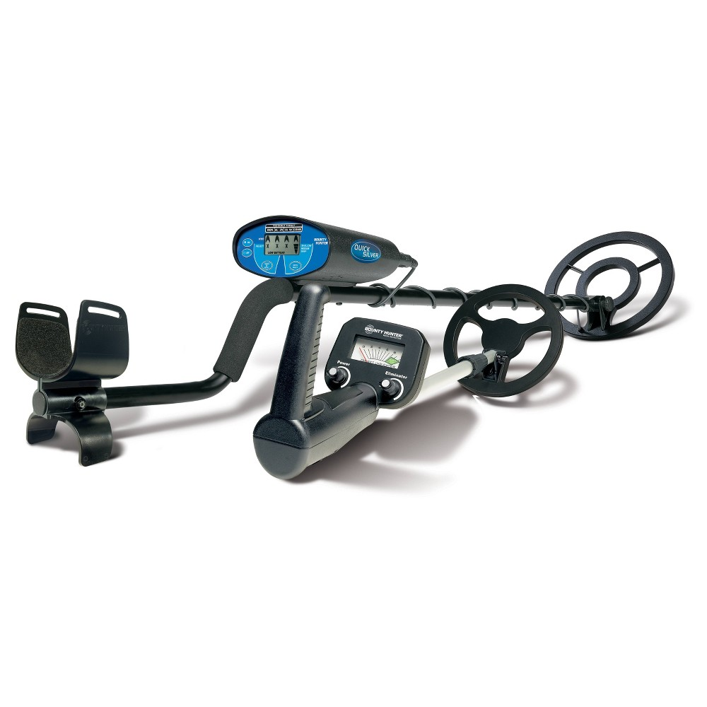 Image of Bounty Hunter Quick Silver and Bounty Hunter Junior Metal Detector Combo - Black