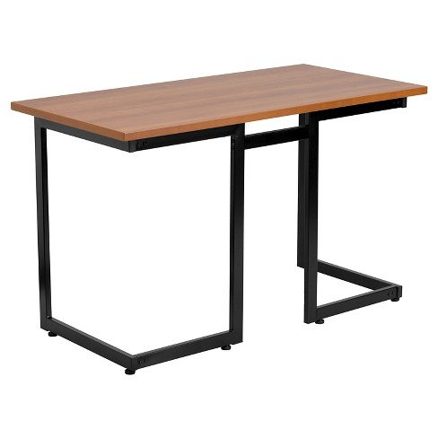 Cherry Computer Desk with Black Frame - Flash Furniture - image 1 of 1