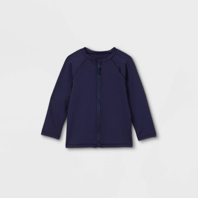 Toddler Boys' Zip-Up Long Sleeve Rash Guard Swim Shirt - Cat & Jack™ Navy