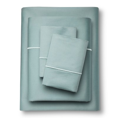 Supima Cotton Sheet Set (Queen)Aqua Spill 1000 Thread Count - Fieldcrest™