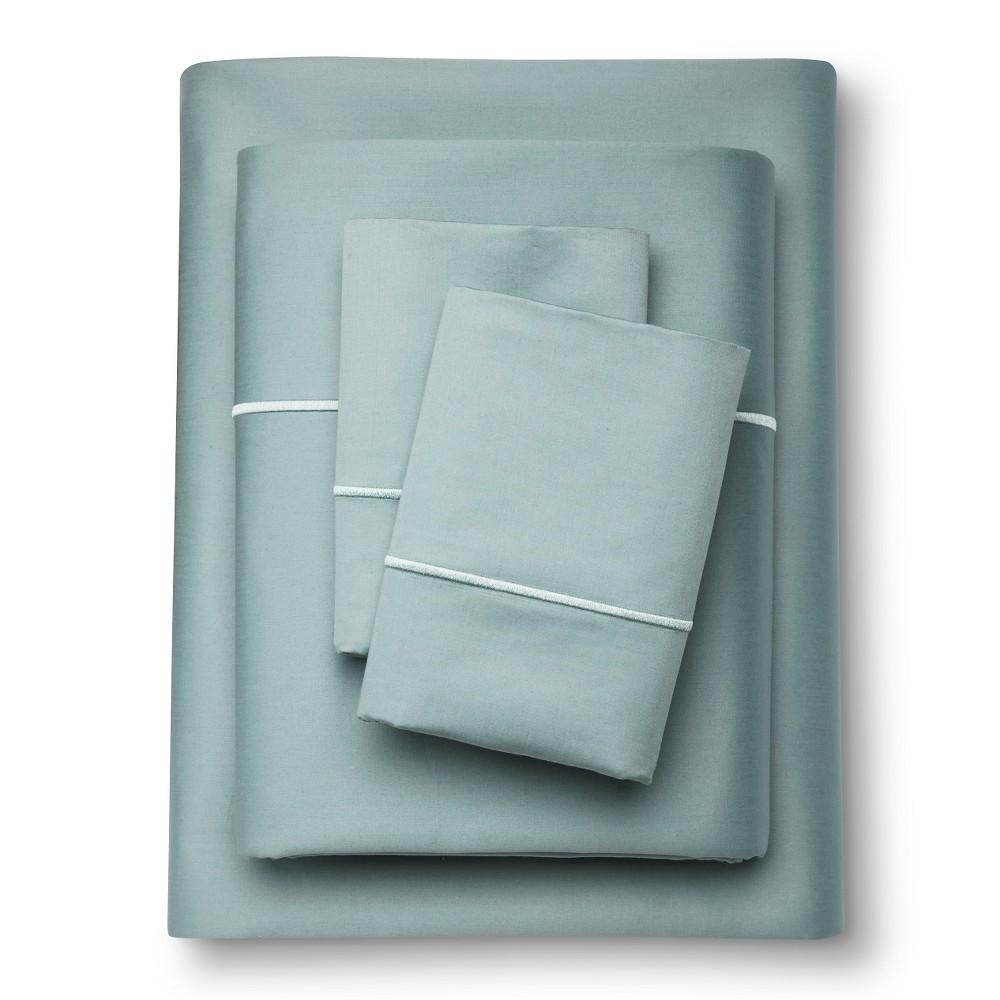 Supima Cotton Sheet Set (Full) Aqua Spill 1000 Thread Cou...
