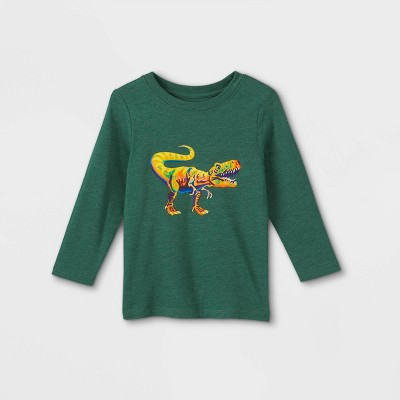 Toddler Boys' Watercolor T-Rex Graphic Long Sleeve T-Shirt - Cat & Jack™ Green