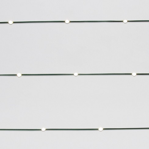 Philips Heavy Duty 0ct Battery Operated LED Dewdrop String Lights Warm White with Green Wire - image 1 of 4