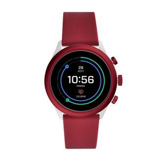 Fossil Sport Smartwatch - 43mm Dark Red Silicone