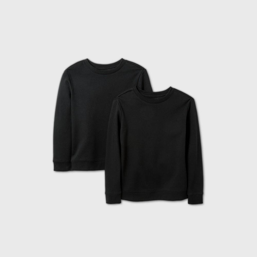 Boys 39 2pk Fleece Pullover Sweatshirt Cat 38 Jack 8482 Black L Husky