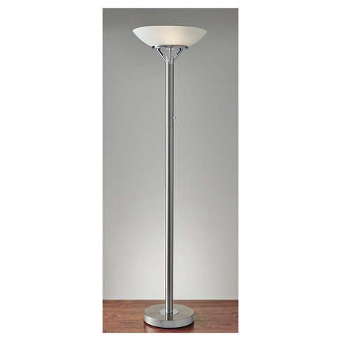 Expo Floor Lamp Silver  - Adesso - image 1 of 3