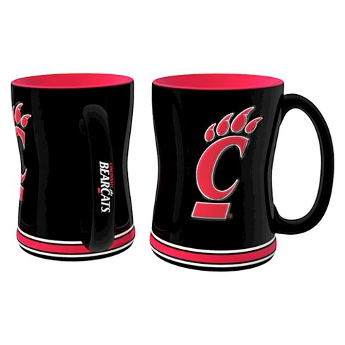 Cincinnati Bearcats Boelter Brands 2 Pack Sculpted Relief Style Coffee Mug - Black (15 oz) - image 1 of 1
