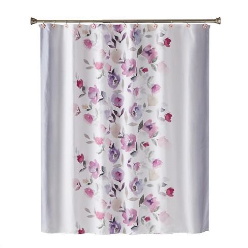 Garden Mist Shower Curtain Purple