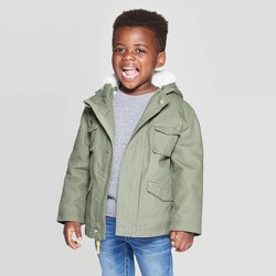 Toddler Boys' Military Jacket - Cat & Jack™ Green