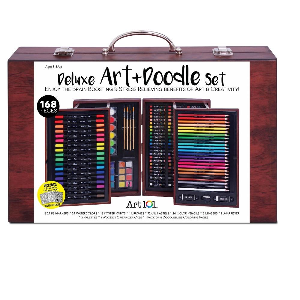 Image of Art 101 Deluxe Art & Doodle Set 168pc