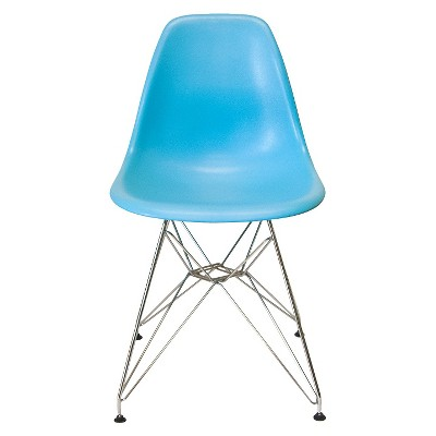 Set of 2 AEON Paris Molded Plastic Chair - Blue