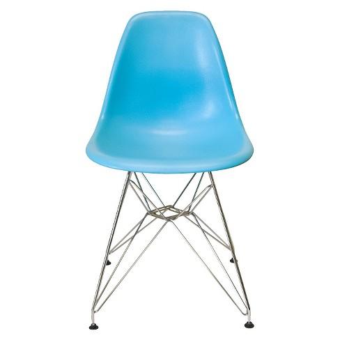 AEON Paris Molded Plastic Chair - Blue (Set of 2) - image 1 of 1