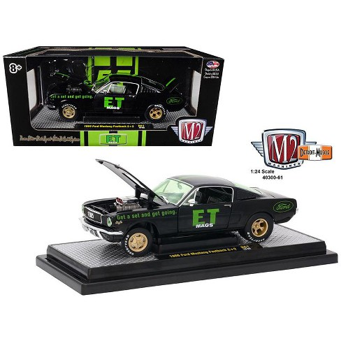 """1966 Ford Mustang 2+2 Fastback """"E.T. Mags"""" Black 1/24 Diecast Model Car by M2 Machines - image 1 of 1"""