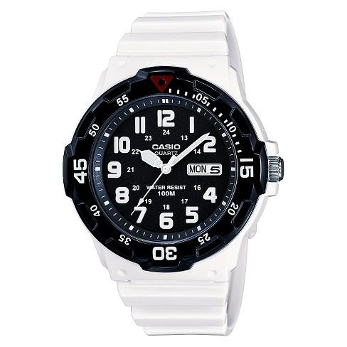 7df09fc19 Casio Men's Dive Style Watch - Glossy White (MRW200HC-7BVCF) : Target