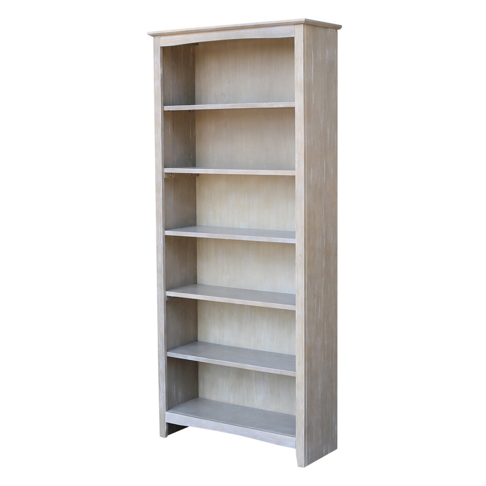72 34 Shaker Bookcase Washed Gray Taupe International Concepts