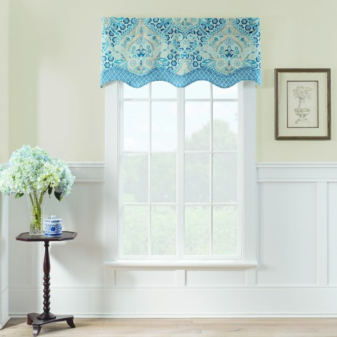 "Moonlit Shadows Window Valance Blue (52""x18"") - Waverly - image 1 of 2"
