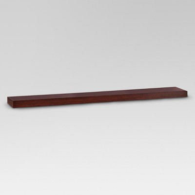"35"" x 8"" Floating Wall Shelf Espresso - Threshold™"