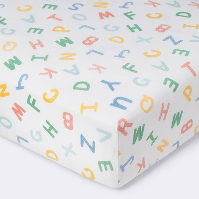 Fitted Crib Sheet Alphabet - Cloud Island™ Primary Colors
