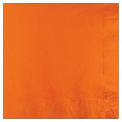 50ct Sunkissed Orange Disposable Napkins