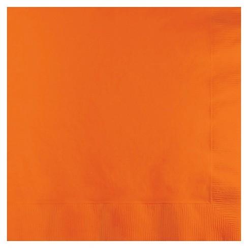 50ct Sunkissed Orange Disposable Napkins - image 1 of 3