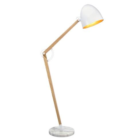 Versanora Bastone Wooden Floor Lamp With Shade White Finish Target
