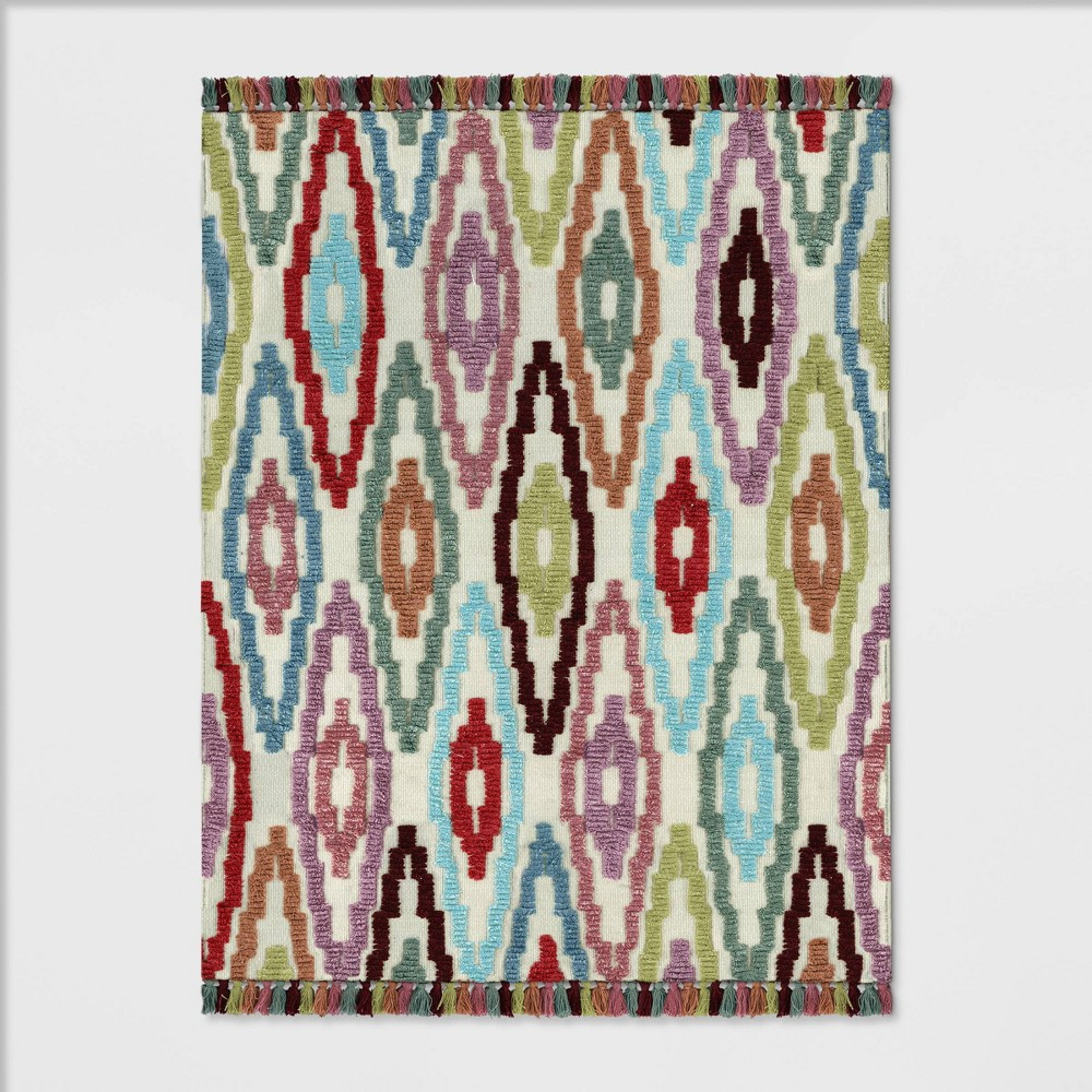 Astounding 7X10 Diamond Tufted Area Rug Opalhouse Multicolored Caraccident5 Cool Chair Designs And Ideas Caraccident5Info