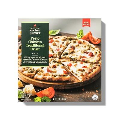 Pesto Chicken Frozen Traditional Crust Pizza - 15.6oz - Archer Farms™