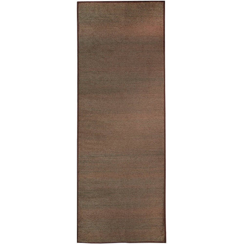 "Image of ""2'5""""x7' Runner Solid Textured Rug Brown - Ruggable, Size: 2'5""""x7'"""