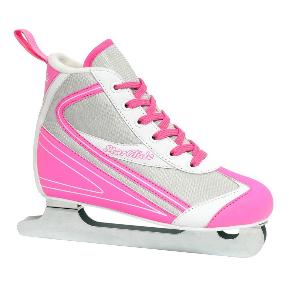 Girl's Lake Placid StarGlide Double Runner Ice Skate - Pink/ White (10)
