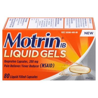 Pain Relievers: Motrin Liquid Gels