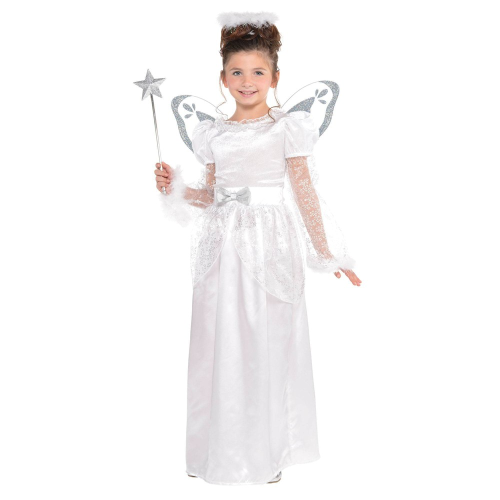 Image of Halloween Christmas Angel Child's Costume S (4-6) - Amscan, Women's, Size: Small, MultiColored